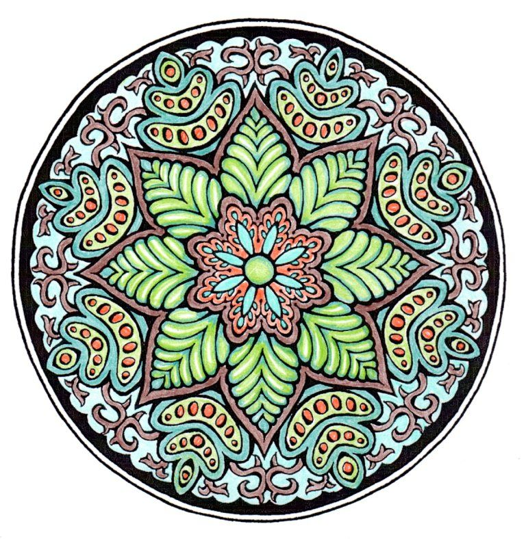 Mystical Mandala By A Hutchinson P 29 20150810 Colored By