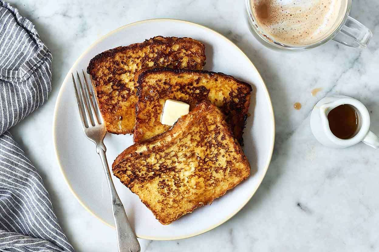 French toast flavored with rum and nutmeg. in 2020 ...