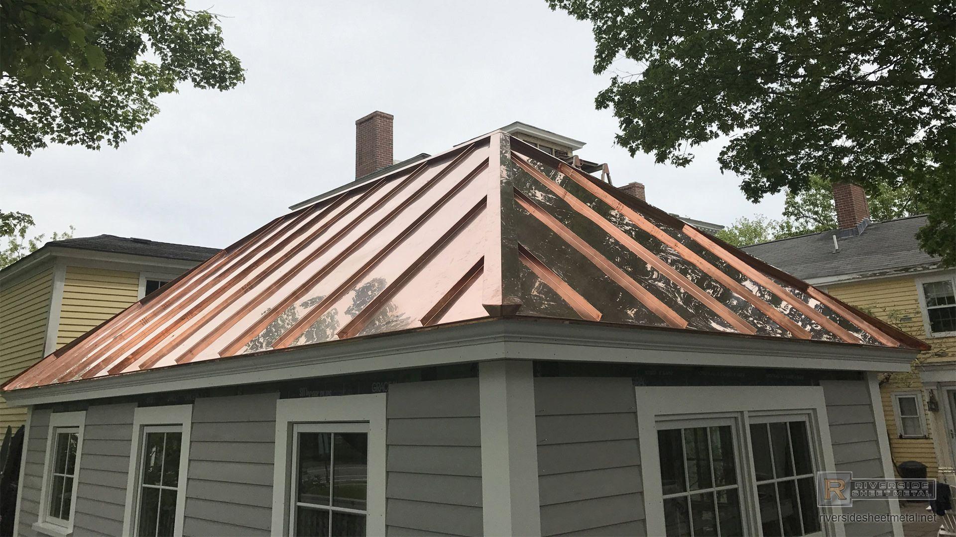 Google Image Result For Https Www Riversidesheetmetal Net Metal Roofing Standing Seam Copper Panel Shed Ins In 2020 Metal Roof Standing Seam Metal Roof Standing Seam