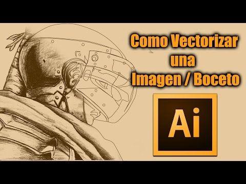 (60) Como Vectorizar una Imagen/Boceto en illustrator CC