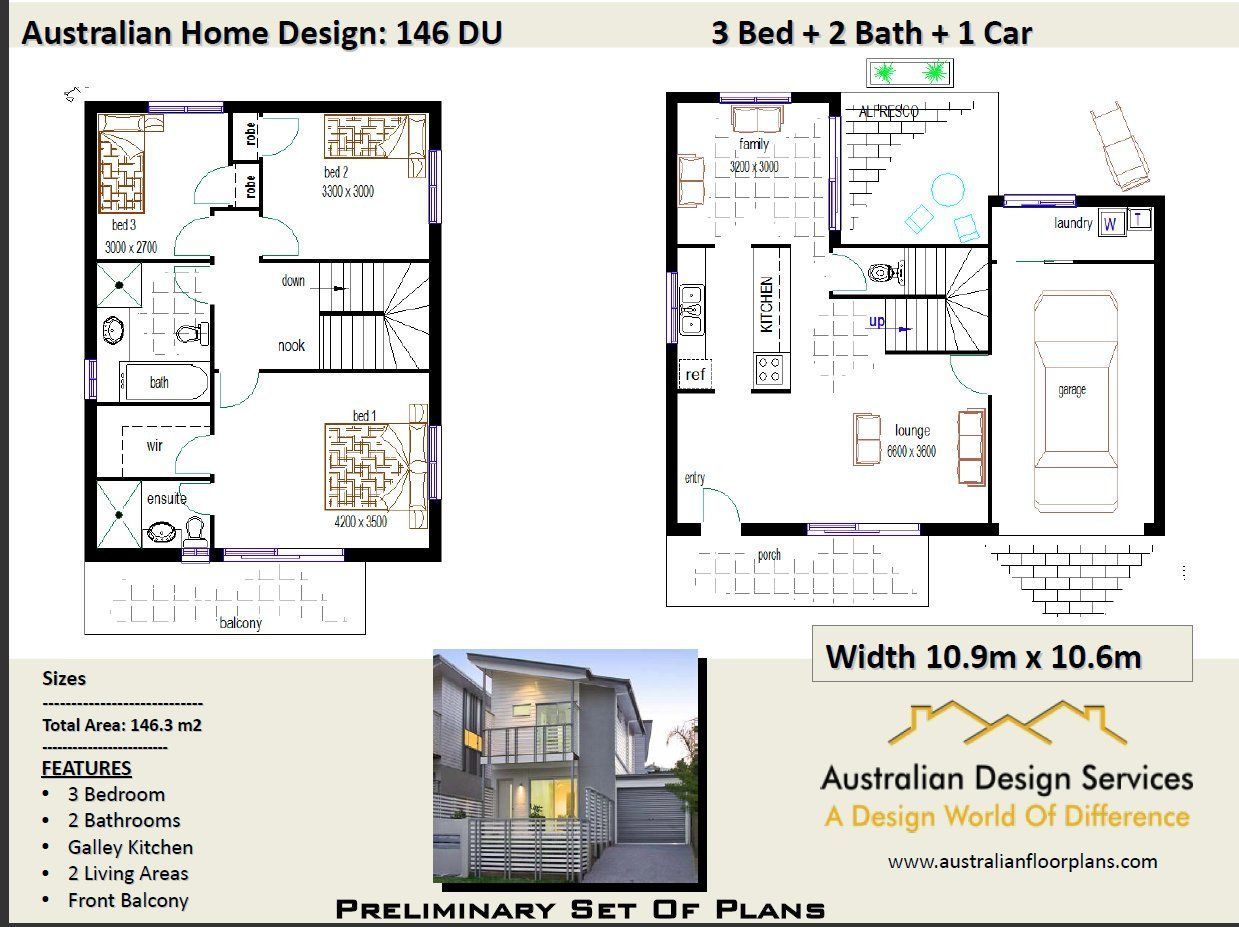 du bed two storey design bedroom concept house plans for sale by australianhouseplans on etsy also rh pinterest