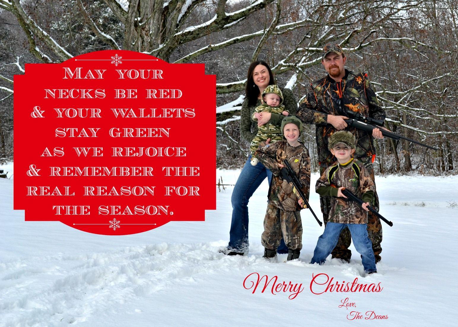 redneck family Christmas card, funny Christmas card, redneck ...
