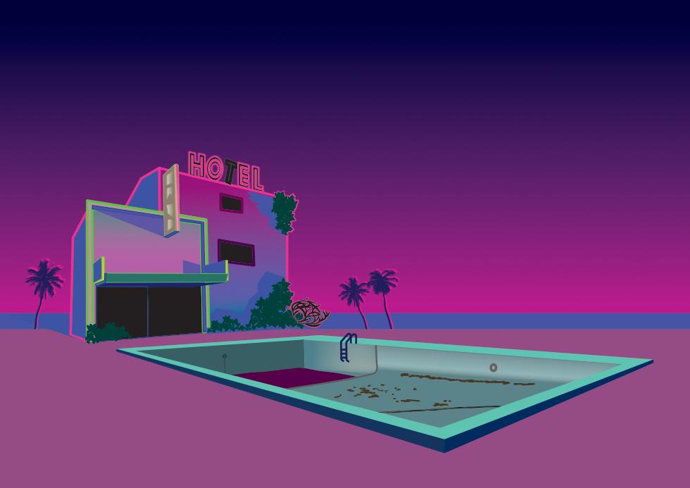 Vaporwave illustration I did for /r/VaporwaveArt on reddit