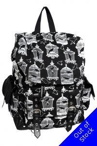 Banned Caged Raven Birdcage Backpack Gothic Bag