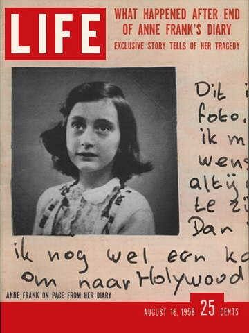 Pin by Ed Cantwell on Old Life Magazines | Life magazine, Anne frank