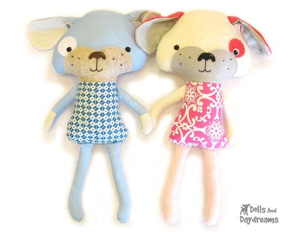 Puppy Dog Softie PDF Sewing Pattern Stuffed Toy | Stofftiere