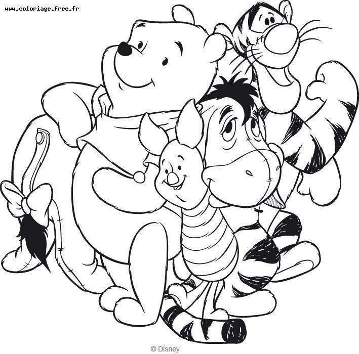 Coloriage Winnie Et Ses Amis Disney Coloring Pages Coloring