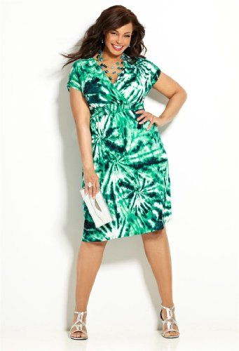 bb027036a5a Amazon.com  Avenue Plus Size Smocked Tie Dye Dress  Clothing