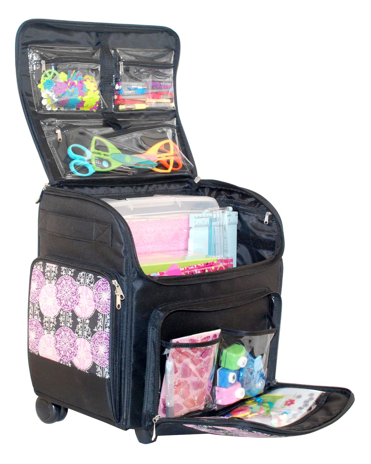 Everything Mary - Rolling Scrapbook Tote   Essential Core Products ... 6b66fbe198