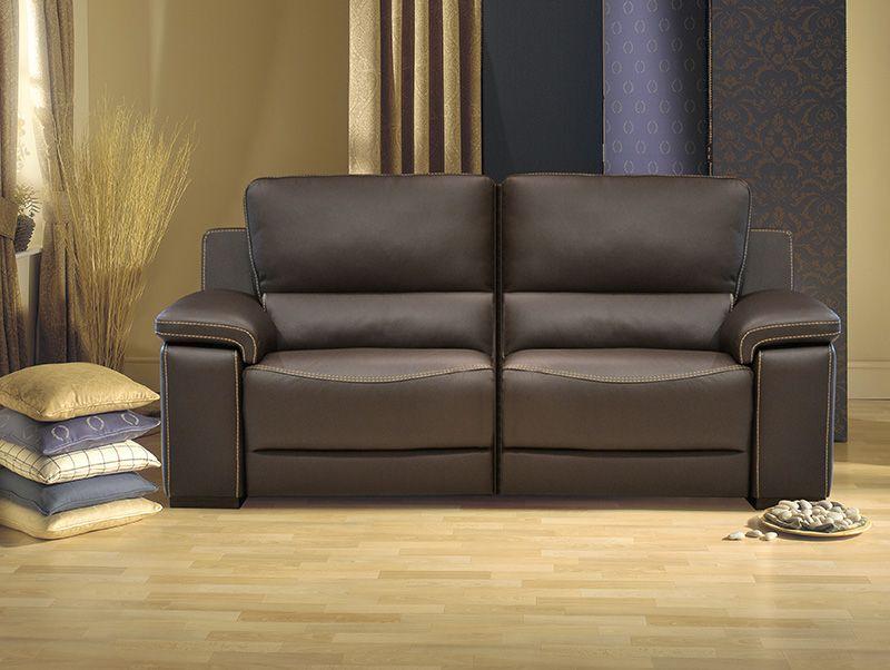 ARNAUD - Salon en cuir avec possibilité de relax électriques ...