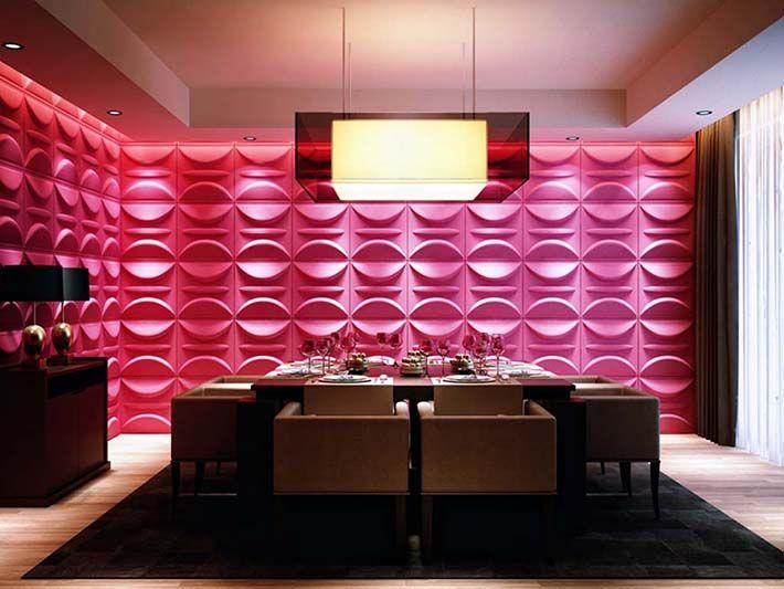 Main Elements Of Interior Design. Inspiração: Paredes E Painéis 3D Board    Em Fibras
