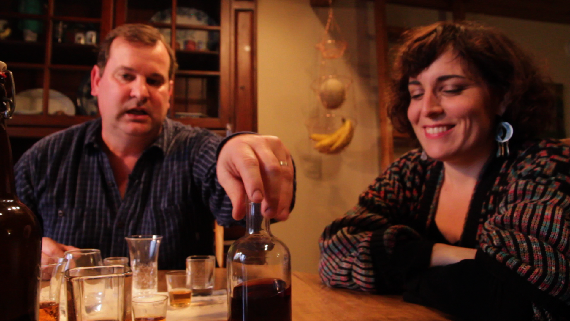 Andrea Maio, director of Back To Your Senses with Mark Moseler who has put his livelihood on the line to start a micro-distillery in N. Michigan