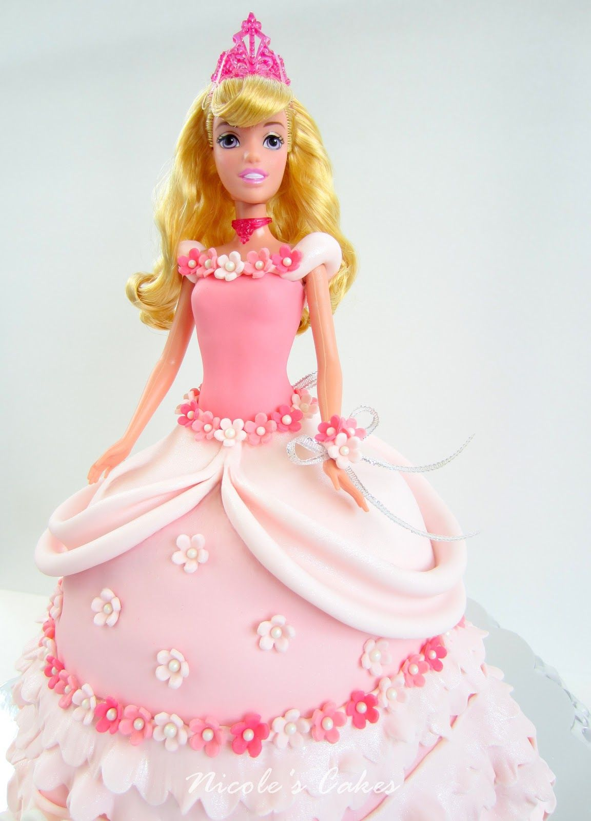 Blonde 3D Princess Doll Pick Birthday Cake Decorating Ideal For Barbie Cakes