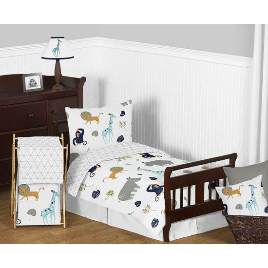 Sweet Jojo Designs Mod Jungle Toddler Bedding Set In 2019 Bed