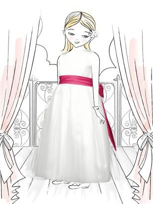 Flower Girl Dress FL4002: The Dessy Group (Sash in Posie)