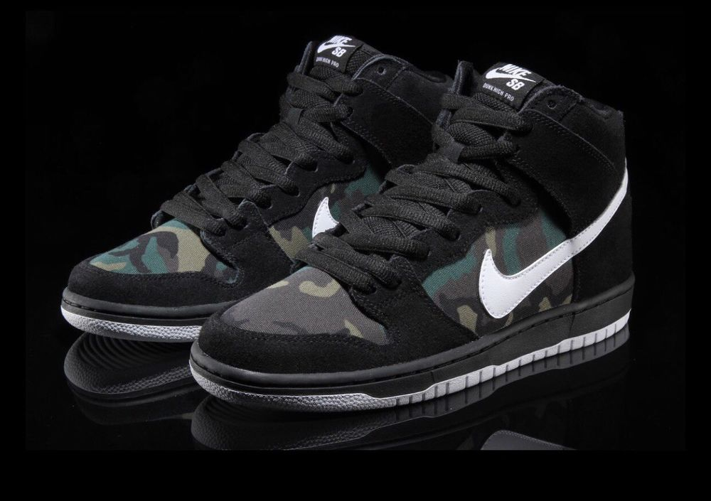 Nike SB Dunk High Pro Size 8 Black