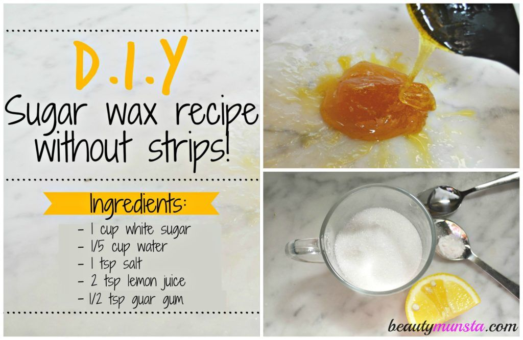 DIY Sugar Wax Recipe without Strips Sugar wax recipe