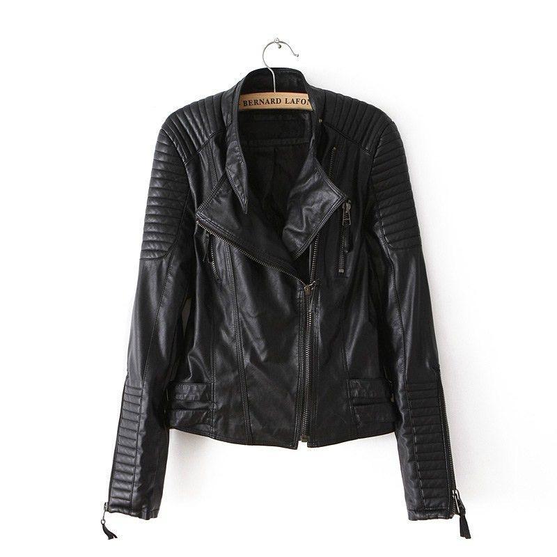 c20a8318e8f Click to Buy    Women Leather Jacket 2016 Winter Coat Female Fashion  Mandarin