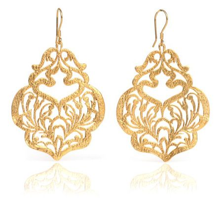 SURAYeliz Titiz Caelia Turkish Gold Earrings wedding attire