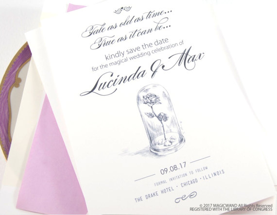 Beauty and the Beast Be our Guest Bridal Shower Invitations