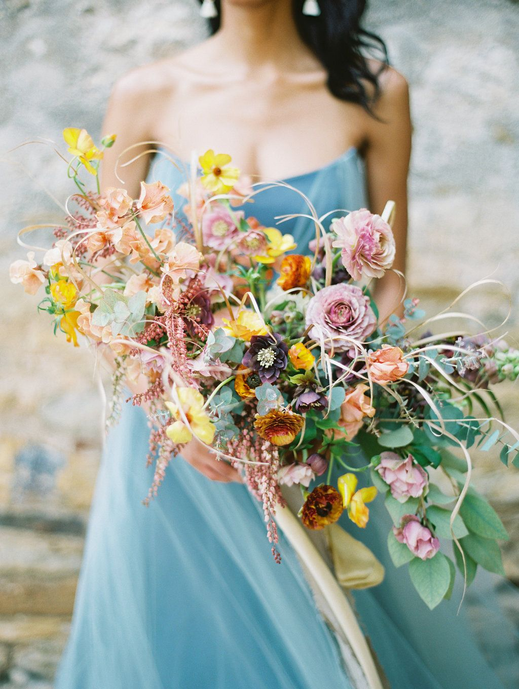 Yellow And Pink Wedding Bouquets Photo By Charla Y Http Ruffledblog