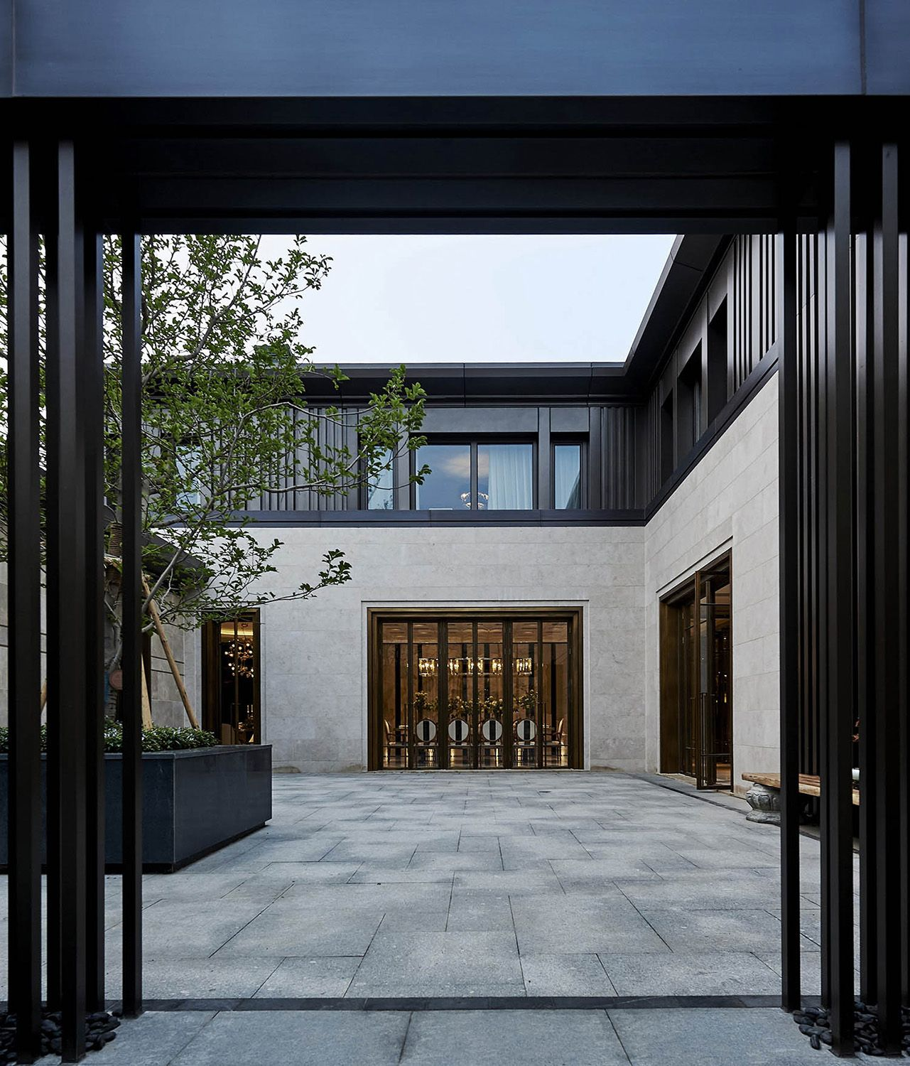 Cosco ruifu is a beijing house that embodies modern taste and traditional spirits design carries out its functional use and helps to