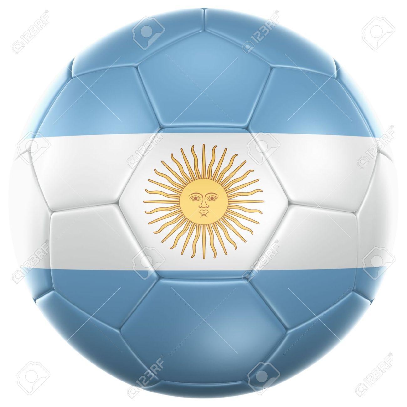 Es balón de fútbol con la bandera Argentina . Es un símbolo del fútbol en  Argentina . El fútbol es un deporte famoso . b2ea8c4b7810b