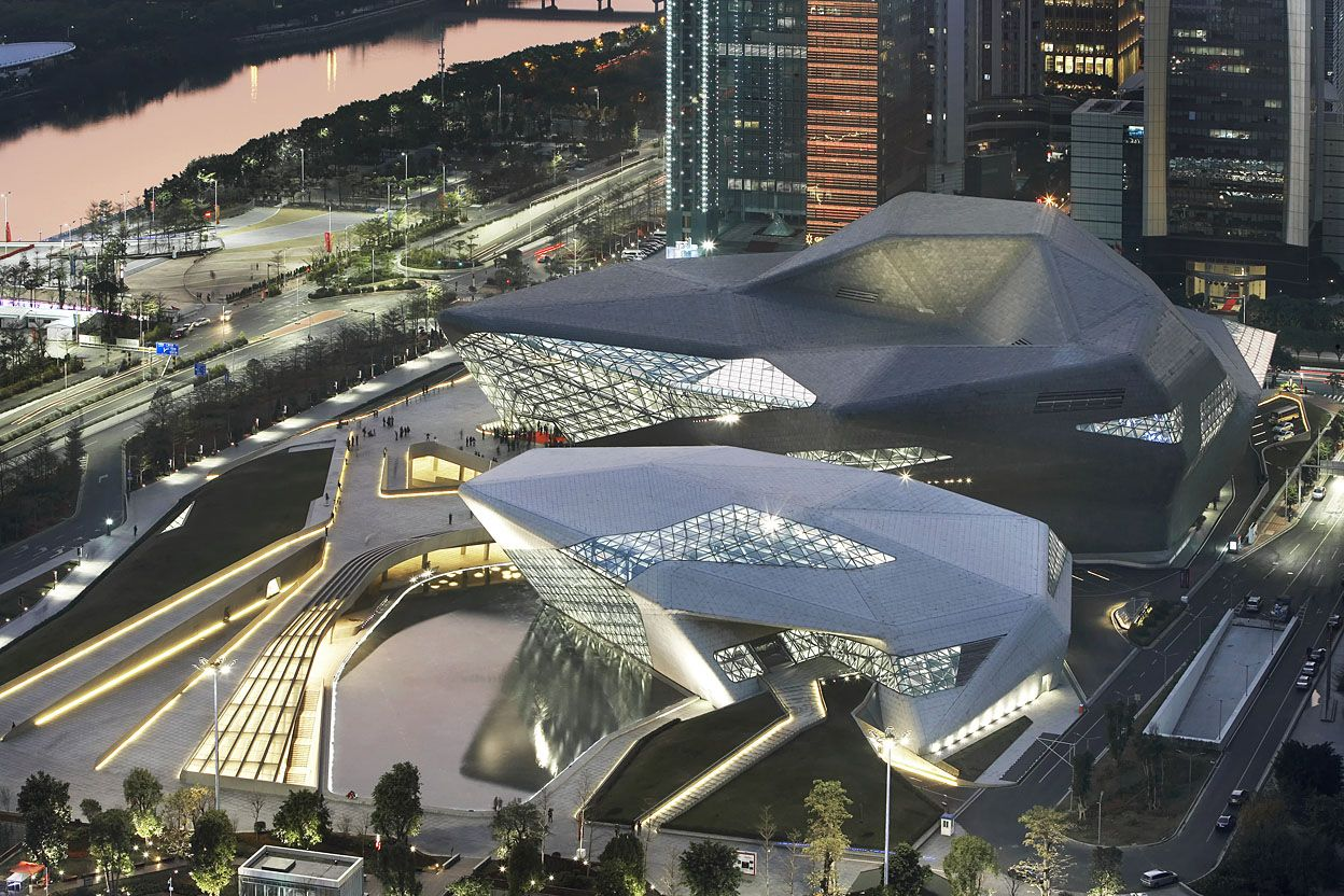 Guangzhou Opera House by Zaha Hadid Architects | Photo by Hufton + Crow