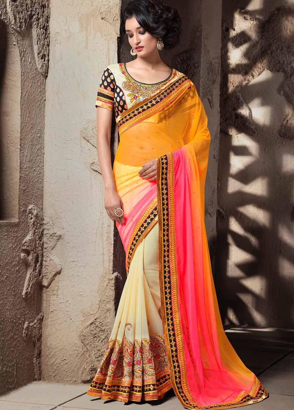 Stunning Net and #Georgette #Saree, #Wedding Special Saree ...