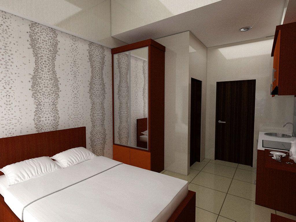 Interior design apartemen - Furnished 3d Design Apartemen Taman Melati Bandung
