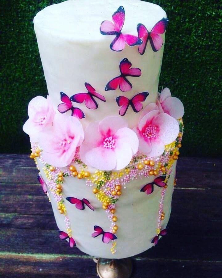 Butterfly garden cake by daniel guiriba garden cakes