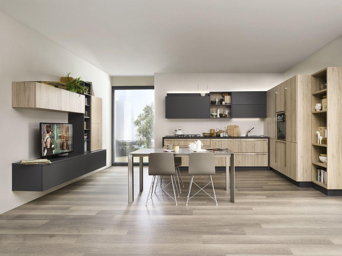 Varianti per Veneta Cucine #Living ROVERE MEDIO e ARDESIA | DINING ...