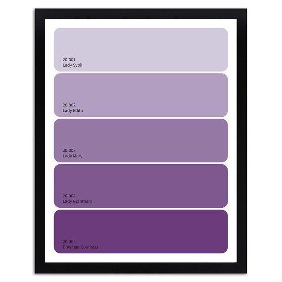Downton Las Paint Chip Art Print 11 X 14 Lavender Purple Ombre Grant On Etsy 12 50