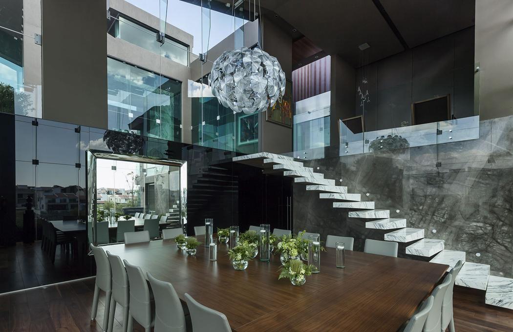 Maison contemporaine de ville située au cœur du Mexique Pinterest
