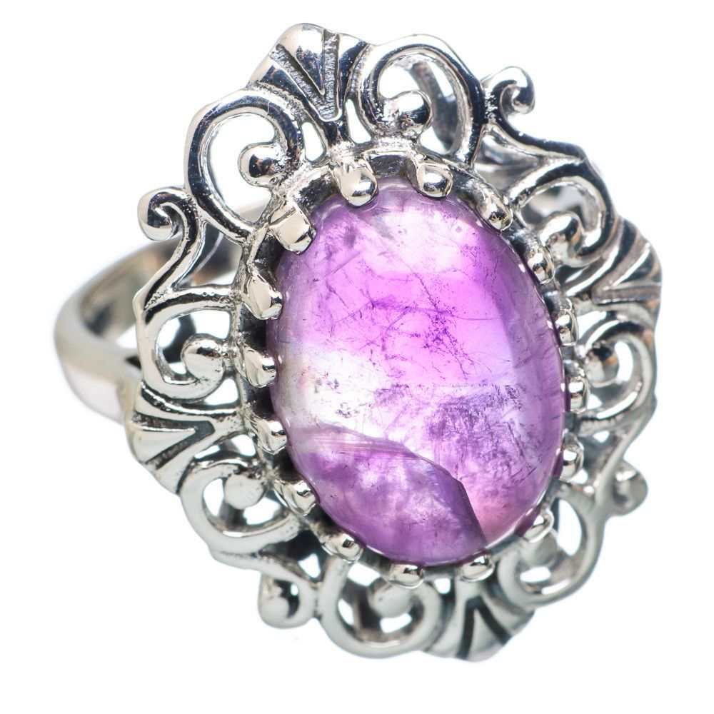 Amethyst 925 Sterling Silver Ring Size 8.5 RING784948