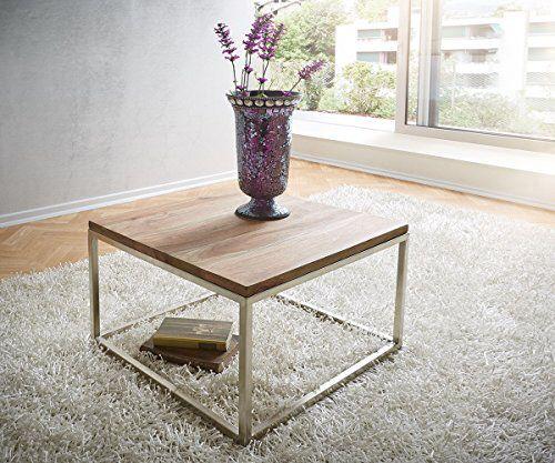 Aus einer quadratischen Tischplatte und einem geradlinigen Gestell - wohnzimmertische aus glas