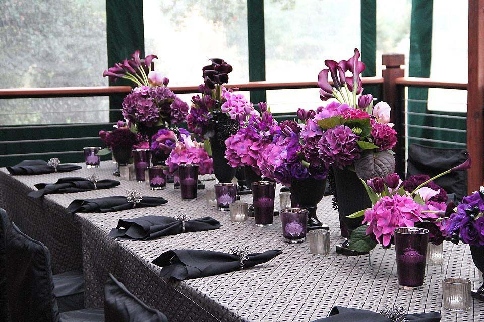 long tables fleurs de france purple wedding reception rh pinterest co uk Pink Centerpieces for Wedding Receptions Black and Purple Wedding Centerpieces
