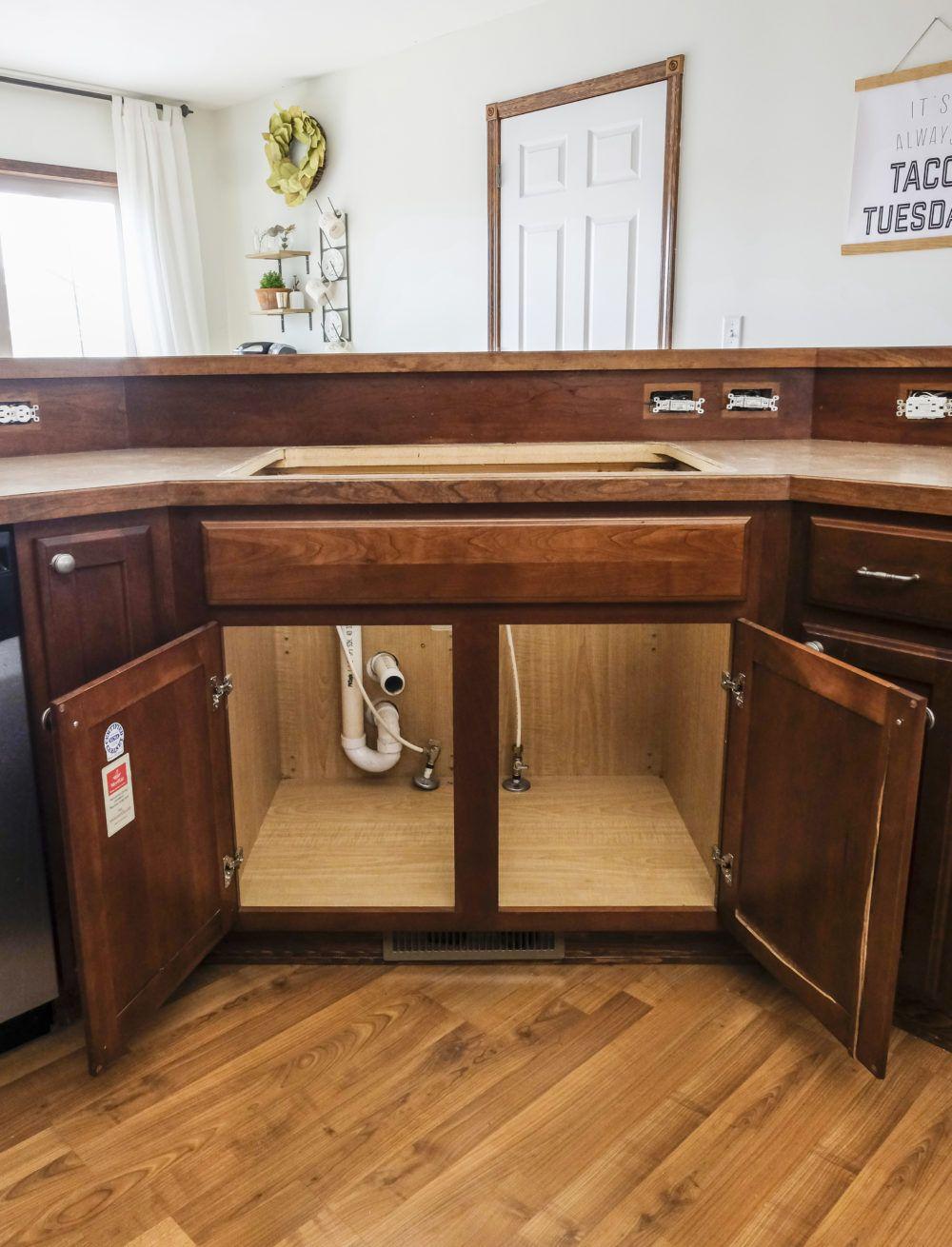 Diy Farmhouse Sink Installation Sink Diy Kitchen How