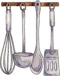 Resultado de imagen para cocina instrumentos acuarela - Instrumentos de cocina ...