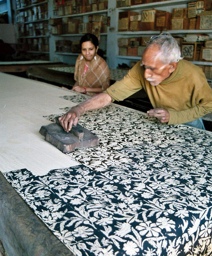 artisan block printing in Bagru village near Jaipur