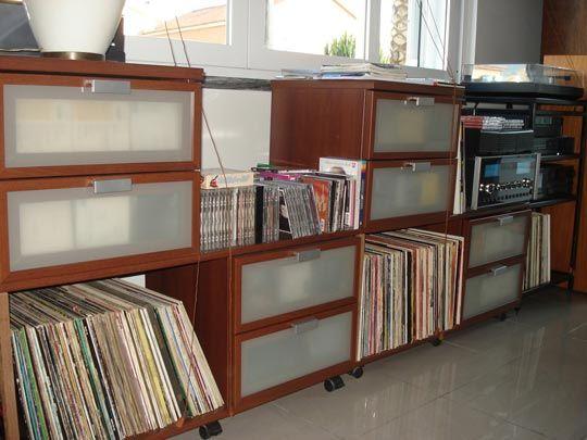 Turn Hopen Nightstands Into Hoppin Record Storage Ikea Vinyl