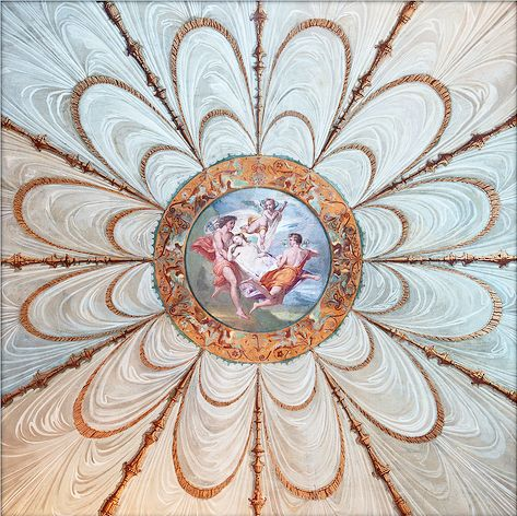 Ceiling at Villa Torlonia, Rome- In style by Doors Lifestyle. Visit www.doorslifestyle.com and subscribe for insider's hidden style treasures