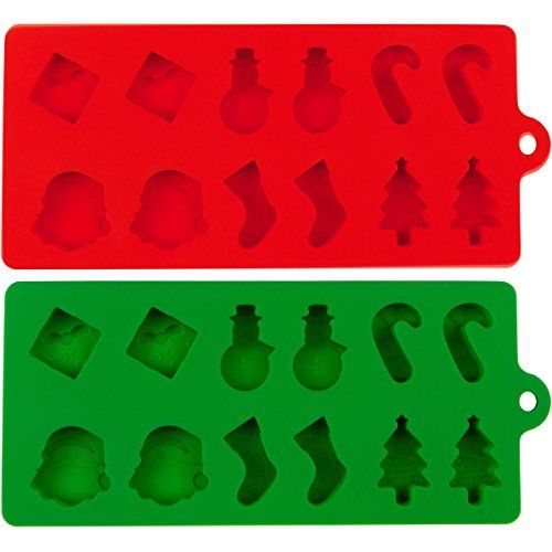 2 merry christmas silicone christmas molds for cake cookies chocolate fudge ice and cooking