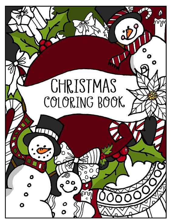 Christmas Coloring Book INSTANT DOWNLOAD