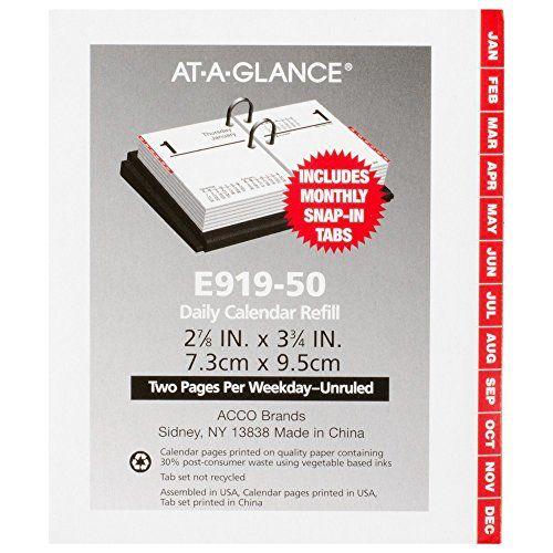 at a glance daily desk calendar 2016 refill compact 12 months 3 x