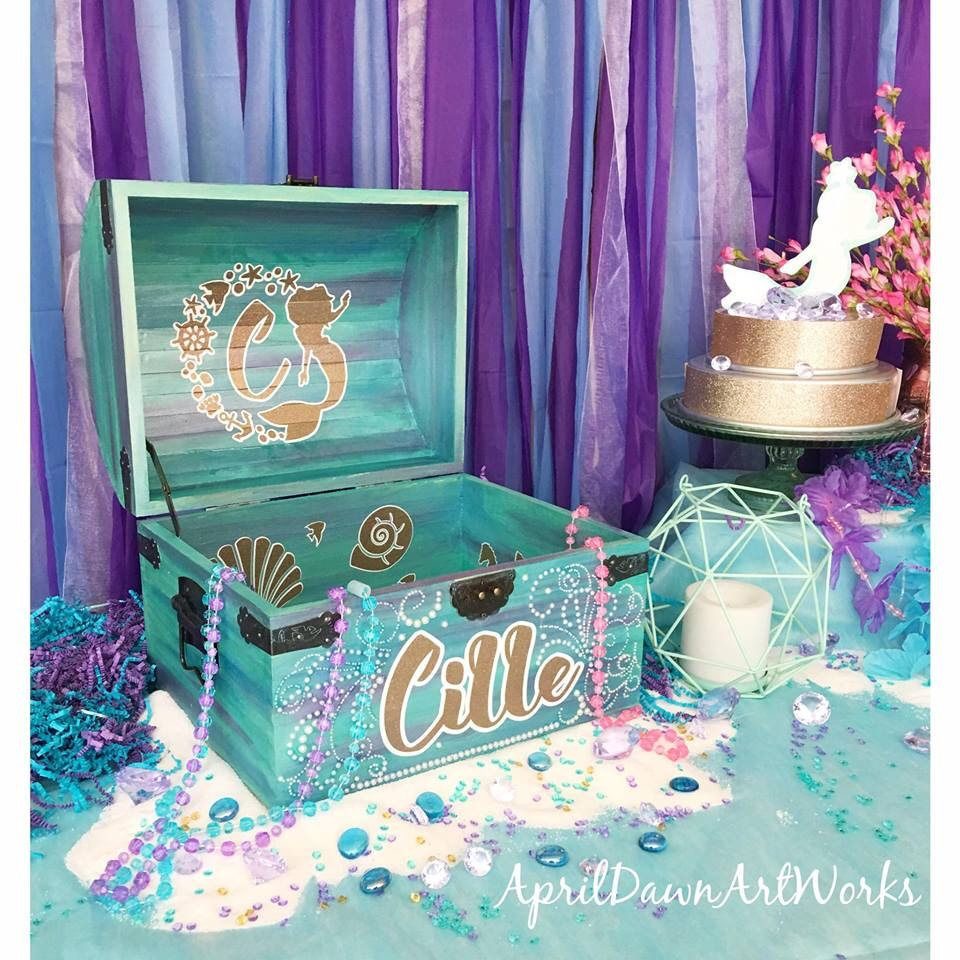 Excited To Share The Latest Addition My Etsy Custom Treasure Chest Party Prop Keepsake Box Memory Mermaid Pirate