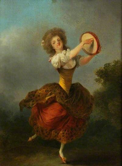 A Dancer with a Tambourine - Jean Frédéric Schall (c.1775-1790)