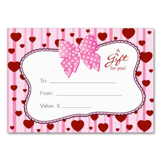 Salon gift card spa valentines day red hearts salons spa and salon gift card spa valentines day red hearts colourmoves Image collections