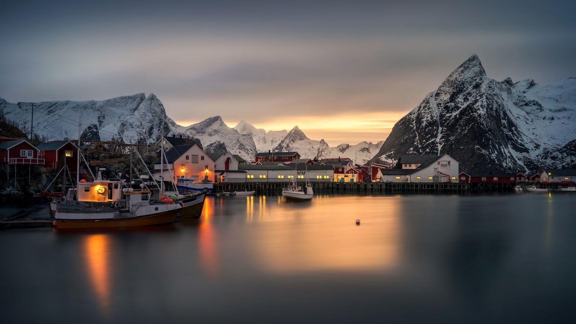 Обои побережье, причал, nice, лодки, дома. Города foto 19