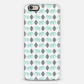 Geometric Aztec Elephants hipster cell phone minty girly